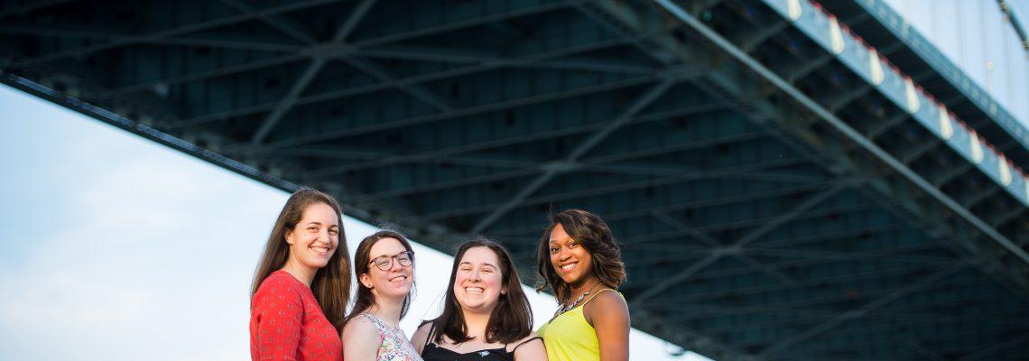 Alexis + Jess + Caroline + Abby   Downtown Philadelphia